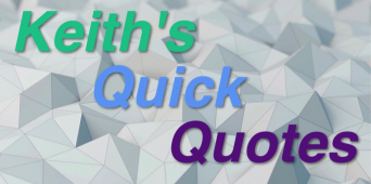 Keith's Quick Quotes: A Sabbath in Name Only [VIDEO]