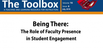 The Toolbox: Being There--The Role of Faculty Presence In Student Engagement [VIDEO]
