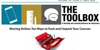 The Toolbox | Moving Online: Ten Ways to Pack and Unpack Your Courses [TEXT / VIDEO]
